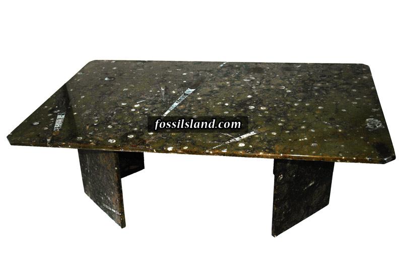 Table Rectangulaire Avec Les Coins Buseaut S En Marbre Fossiles L Re D Vonien