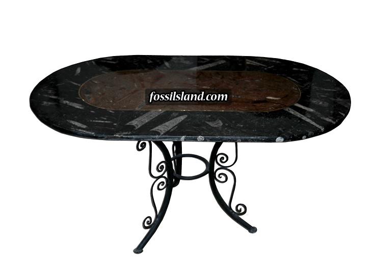 Luxueuse table en marbre riche en fossiles datant de plus de 350 millions d -> Le Plux Luxieux Des Tables Tv