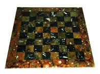 Table marqueterie damier
